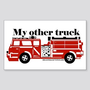 """""""My other truck"""" Rectangle Sticker"""