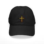 Skull Gold Cross Black Cap