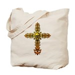 Skull Gold Cross Tote Bag