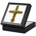 Skull Gold Cross Keepsake Box
