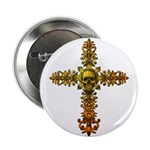 Skull Gold Cross 2.25