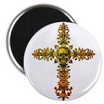 Skull Gold Cross Magnet