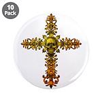 Skull Gold Cross 3.5