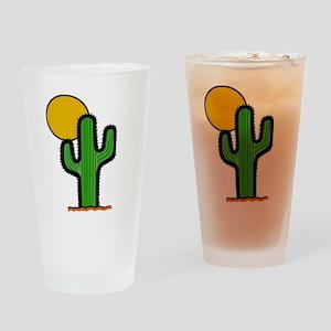 'Desert Cactus' Drinking Glass