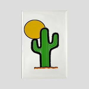 'Desert Cactus' Rectangle Magnet