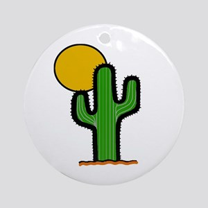 'Desert Cactus' Ornament (Round)
