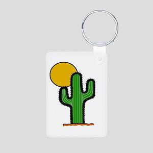'Desert Cactus' Aluminum Photo Keychain