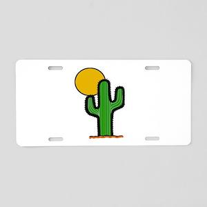 'Desert Cactus' Aluminum License Plate