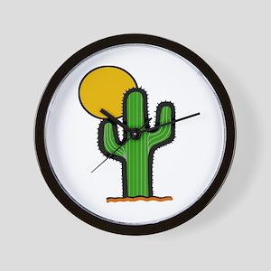 'Desert Cactus' Wall Clock