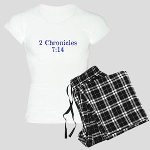 2 Chr 7:14 Talmud Women's Light Pajamas