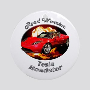 Tesla Roadster Ornament (Round)