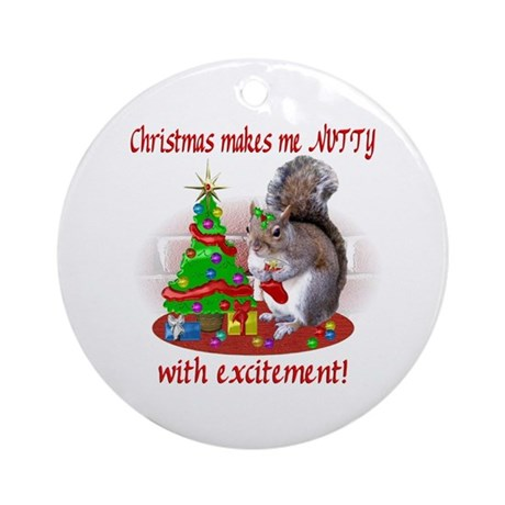 Christmas Squirrel Ornament (Round)