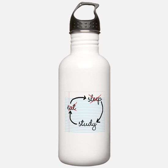 'Study, Study, Study' Water Bottle