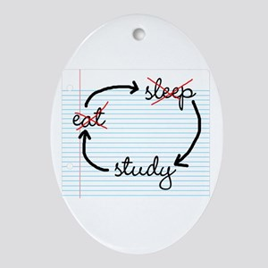 'Study, Study, Study' Ornament (Oval)