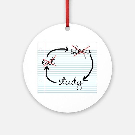 'Study, Study, Study' Ornament (Round)