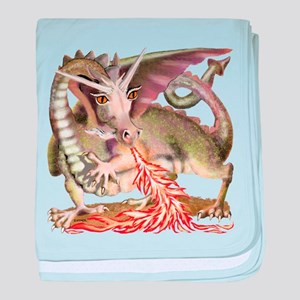 Fire Dragon baby blanket