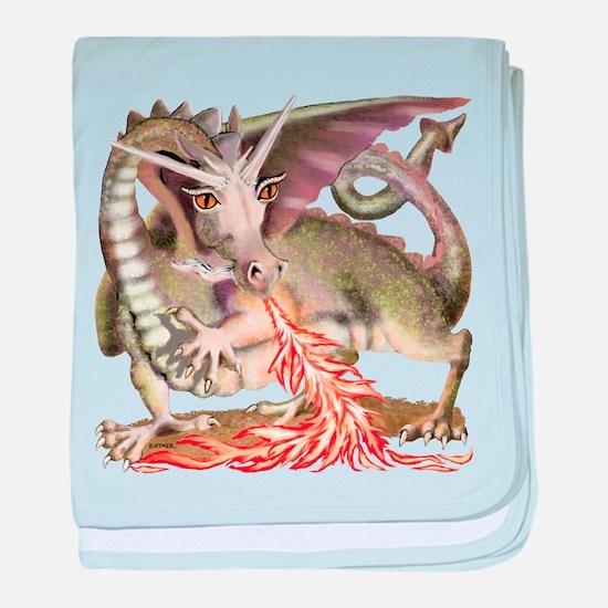 Fire Dragon baby blanket