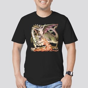Fire Dragon Men's Fitted T-Shirt (dark)