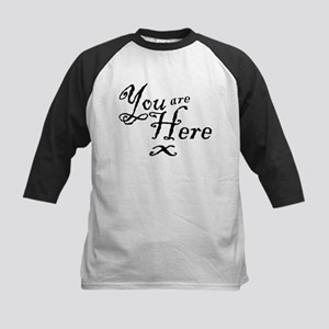YOU ARE HERE Kids Baseball Jersey