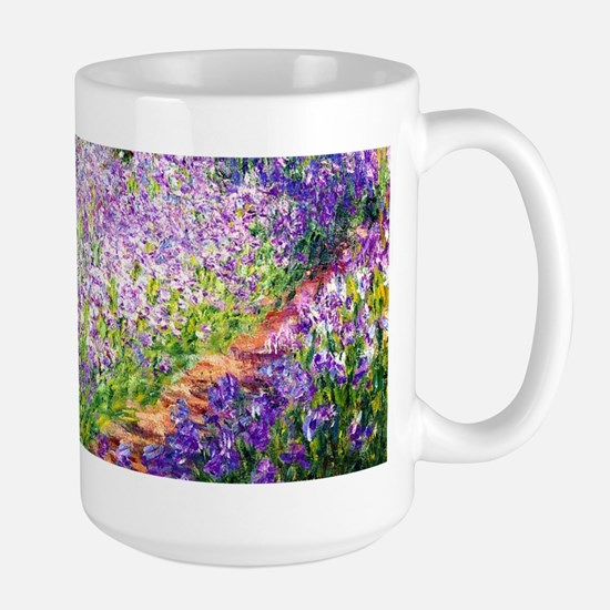 Monet - Irises in Garden Large Mug