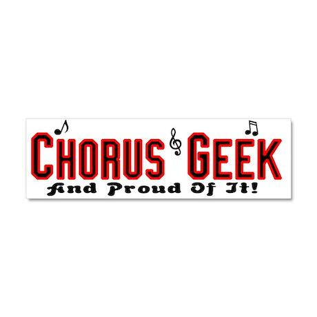 Chorus Geek Car Magnet 10 x 3