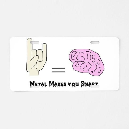 Cute Metalhead Aluminum License Plate