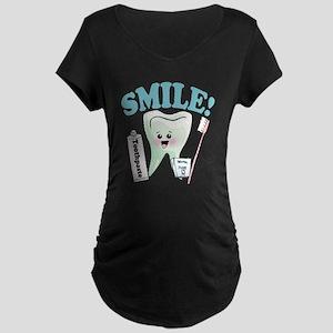 Dentist Dental Hygienist Teeth Maternity Dark T-Sh