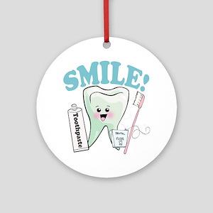 Dentist Dental Hygienist Teeth Ornament (Round)
