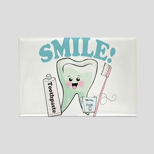 Dentist Dental Hygienist Teeth Rectangle Magnet