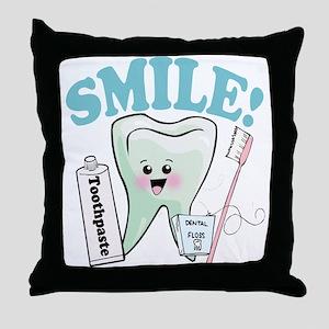 Dentist Dental Hygienist Teeth Throw Pillow