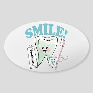 Dentist Dental Hygienist Teeth Sticker (Oval)