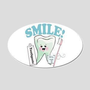 Dentist Dental Hygienist Teeth 22x14 Oval Wall Pee