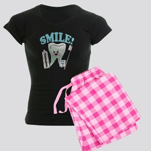 Dentist Dental Hygienist Teeth Women's Dark Pajama