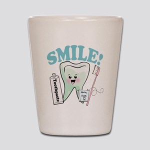 Dentist Dental Hygienist Teeth Shot Glass