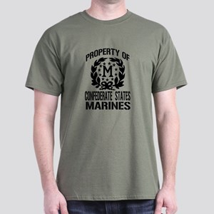 Property Of Confederate Marin Dark T-Shirt