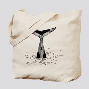 Whale Art Print Tote Bag