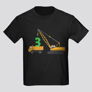 3rd Birthday Construction T-Shirt