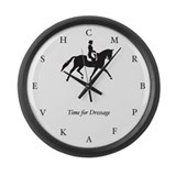 Dressage horse Wall Clocks