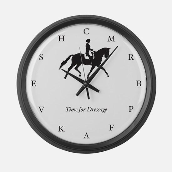 Time for Dressage Clock (large, black)