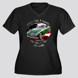 Austin Healey 3000 Women's Plus Size V-Neck Dark T