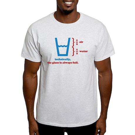 Half Full Glass Light T-Shirt