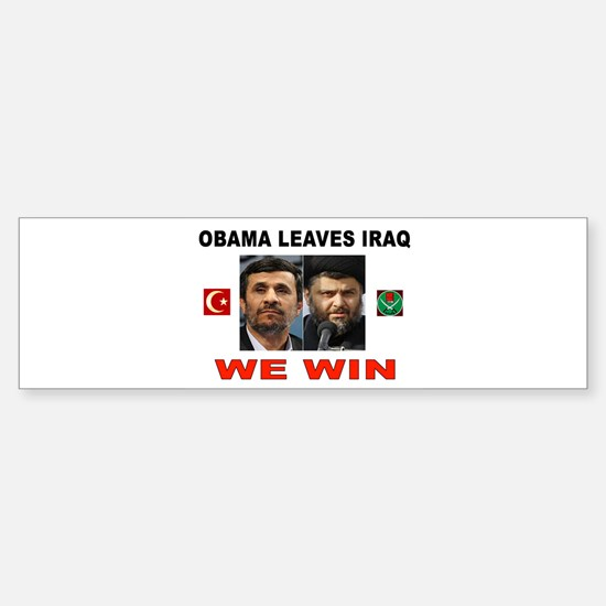 OBAMA DISASTER Sticker (Bumper)