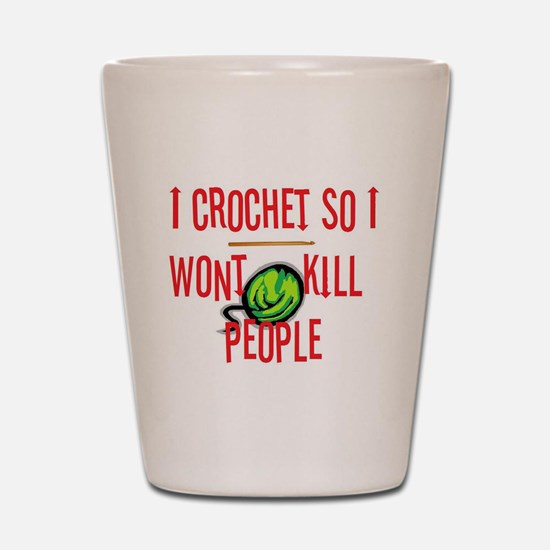 Funny Crochet Shot Glass