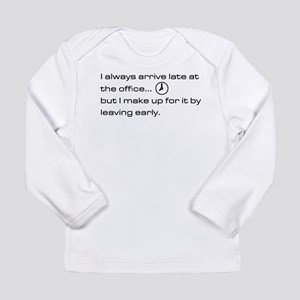 'Late At The Office' Long Sleeve Infant T-Shirt