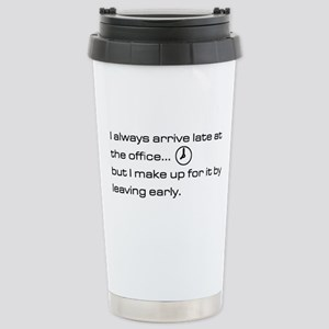 'Late At The Office' Stainless Steel Travel Mug