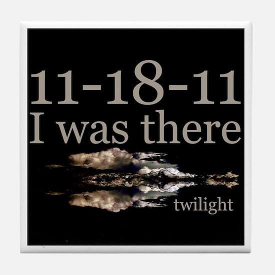 11-18-11 I Was There Twilight Tile Coaster