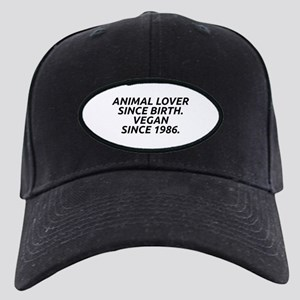 Vegan since 1986 Black Cap