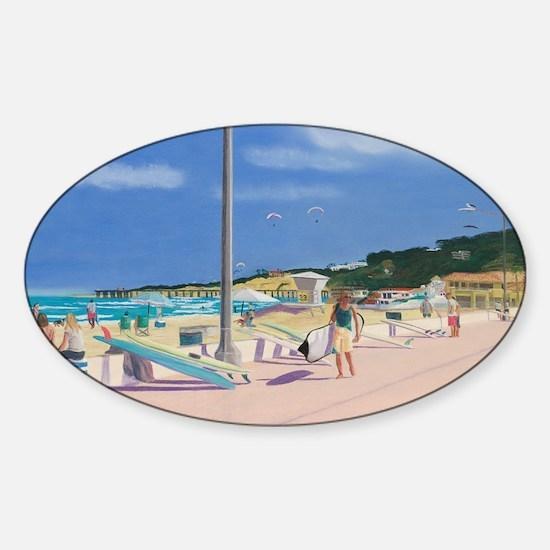 All A Board Sticker (Oval)
