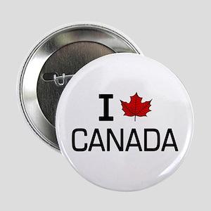 """'I Love Canada' 2.25"""" Button"""