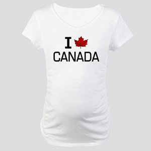 'I Love Canada' Maternity T-Shirt